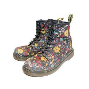 Doc Martin Black Delaney Wannderflora Canvas Boots
